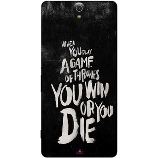 Snooky Printed 1003,game of thrones win or die Mobile Back Cover of Sony Xperia C5 - Multi