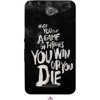 Snooky Printed 1003,game of thrones win or die Mobile Back Cover of Sony Xperia E4 - Multi