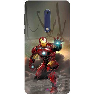 Snooky Printed 1020,Iron Man Power Mobile Back Cover of Nokia 5 - Multi