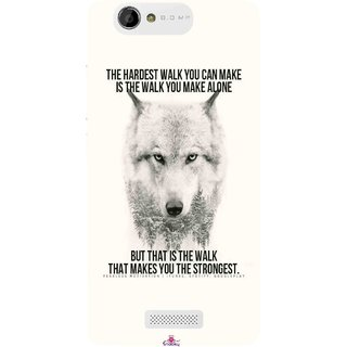 Snooky Printed 1039,lone wolf Mobile Back Cover of Gionee M2 - Multi
