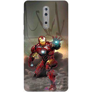 Snooky Printed 1020,Iron Man Power Mobile Back Cover of Nokia 8 - Multi