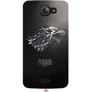 Snooky Printed 1004,game of thrones winter Mobile Back Cover of Intex Aqua Wave - Multi