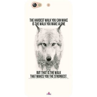 Snooky Printed 1039,lone wolf Mobile Back Cover of Gionee Marathon M5 - Multi