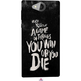 Snooky Printed 1003,game of thrones win or die Mobile Back Cover of Xolo Prime - Multi