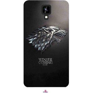 Snooky Printed 1004,game of thrones winter Mobile Back Cover of Intex Aqua Y2 1G - Multi