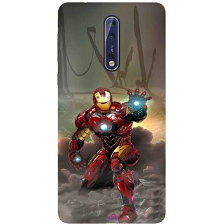 Snooky Printed 1020,Iron Man Power Mobile Back Cover of Nokia 9 - Multi