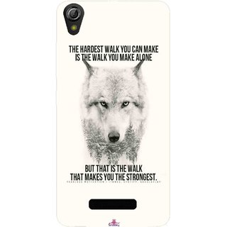 Snooky Printed 1039,lone wolf Mobile Back Cover of Gionee Pioneer P5W - Multi