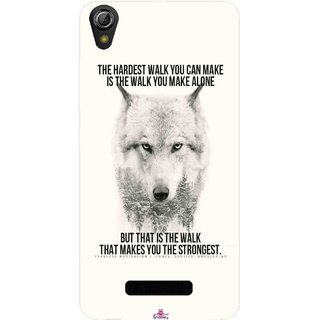 Snooky Printed 1039,lone wolf Mobile Back Cover of Gionee Pioneer P6 - Multi