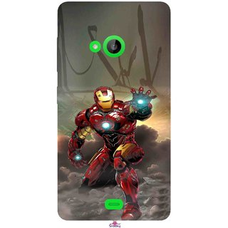 Snooky Printed 1020,Iron Man Power Mobile Back Cover of Nokia Lumia 535 - Multi