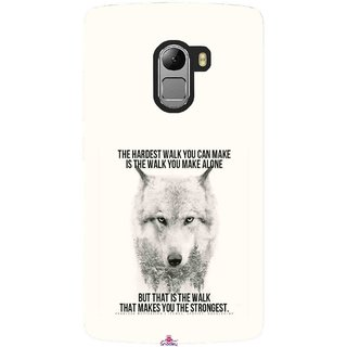 Snooky Printed 1039,lone wolf Mobile Back Cover of Lenovo K4 Note - Multi