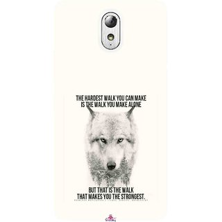 Snooky Printed 1039,lone wolf Mobile Back Cover of Lenovo Vibe P1M - Multi