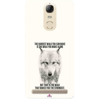 Snooky Printed 1039,lone wolf Mobile Back Cover of Lenovo Vibe K5 Note - Multi