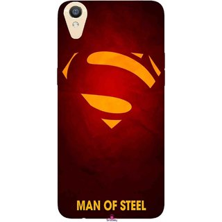 Snooky Printed 1048,Man Of Steel Supper Man Mobile Back Cover of Oppo F1 Plus - Multi