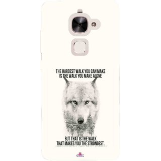Snooky Printed 1039,lone wolf Mobile Back Cover of Letv Le 2 - Multi