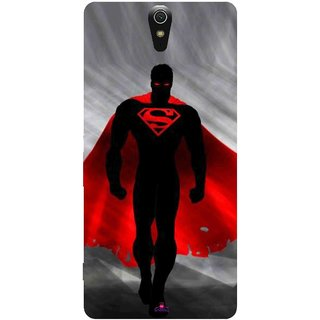 Snooky Printed 1098,Super Man Mobile Back Cover of Sony Xperia C5 - Multi