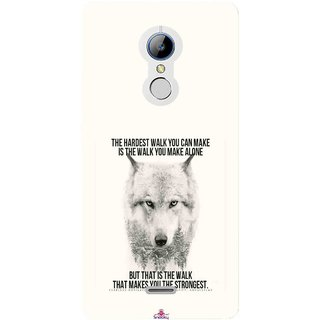 Snooky Printed 1039,lone wolf Mobile Back Cover of LYF Water 7 - Multi