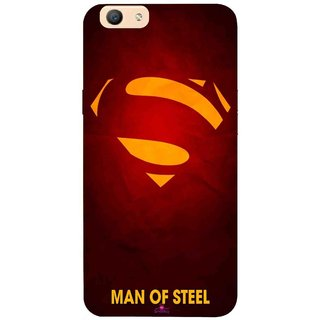 Snooky Printed 1048,Man Of Steel Supper Man Mobile Back Cover of Oppo F1s - Multi