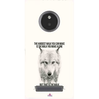 Snooky Printed 1039,lone wolf Mobile Back Cover of Micromax Yu Yunique - Multi