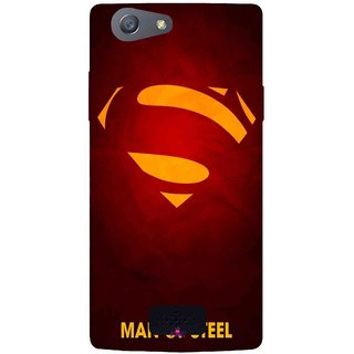 Snooky Printed 1048,Man Of Steel Supper Man Mobile Back Cover of Oppo Neo 5 - Multi
