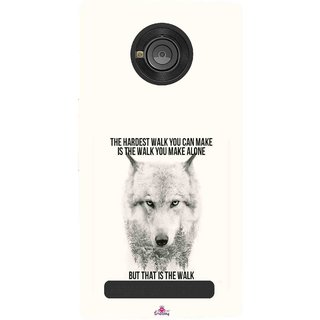 Snooky Printed 1039,lone wolf Mobile Back Cover of Micromax Yu Yuphoria - Multi