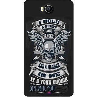Snooky Printed 1015,I hold a best an angel Mobile Back Cover of Intex Aqua 4.5e - Multi
