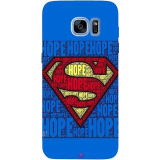 Snooky Printed 1014,Hope Super Man Mobile Back Cover of Samsung Galaxy S7 Edge - Multi