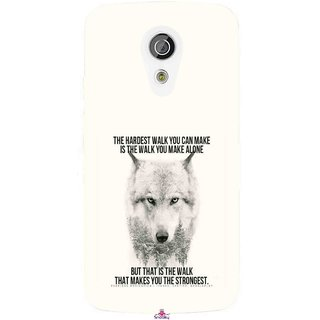 Snooky Printed 1039,lone wolf Mobile Back Cover of Moto G2 - Multi