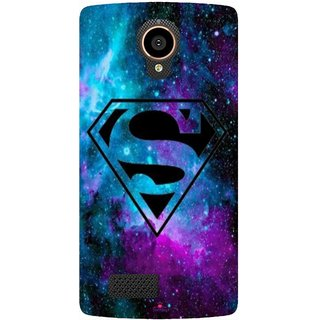 Snooky Printed 1099,Superman Fondos Mobile Back Cover of LYF Flame 7 - Multi