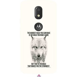 Snooky Printed 1039,lone wolf Mobile Back Cover of Motorola Moto E3 - Multi
