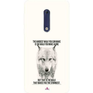 Snooky Printed 1039,lone wolf Mobile Back Cover of Nokia 5 - Multi