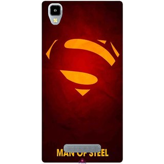 Snooky Printed 1048,Man Of Steel Supper Man Mobile Back Cover of Panasonic Eluga A2 - Multi