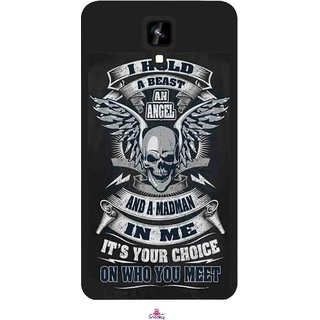 Snooky Printed 1015,I hold a best an angel Mobile Back Cover of Intex Aqua Y2 1G - Multi