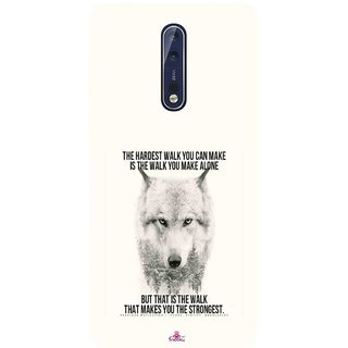 Snooky Printed 1039,lone wolf Mobile Back Cover of Nokia 9 - Multi