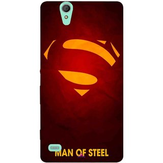 Snooky Printed 1048,Man Of Steel Supper Man Mobile Back Cover of Sony Xperia C4 - Multi