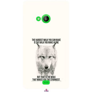 Snooky Printed 1039,lone wolf Mobile Back Cover of Nokia Lumia 535 - Multi