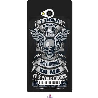Snooky Printed 1015,I hold a best an angel Mobile Back Cover of Lava Flair Z1 - Multi