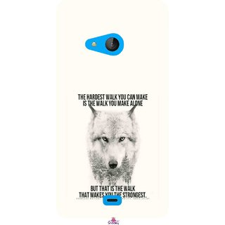 Snooky Printed 1039,lone wolf Mobile Back Cover of Nokia Lumia 540 - Multi