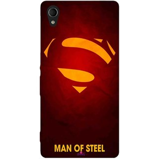 Snooky Printed 1048,Man Of Steel Supper Man Mobile Back Cover of Sony Xperia M4 - Multi