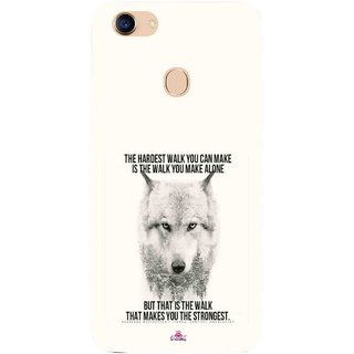 Snooky Printed 1039,lone wolf Mobile Back Cover of Oppo F5 - Multi