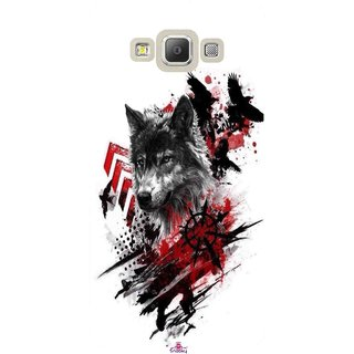 Snooky Printed 1121,wolf polka trash Mobile Back Cover of Samsung Galaxy A7 - Multi