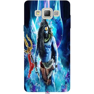 Snooky Printed 1042,Lord Shiva Rudra Mobile Back Cover of Samsung Galaxy A7 - Multi