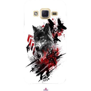 Snooky Printed 1121,wolf polka trash Mobile Back Cover of Samsung Galaxy j2 - Multi