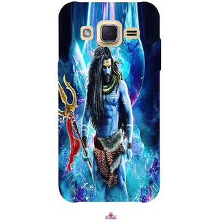 Snooky Printed 1042,Lord Shiva Rudra Mobile Back Cover of Samsung Galaxy j2 - Multi