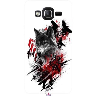 Snooky Printed 1121,wolf polka trash Mobile Back Cover of Samsung Galaxy On7 - Multi