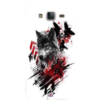 Snooky Printed 1121,wolf polka trash Mobile Back Cover of Samsung Galaxy J3 Pro - Multi