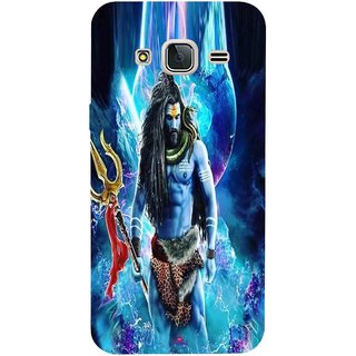 Snooky Printed 1042,Lord Shiva Rudra Mobile Back Cover of Samsung Galaxy J3 Pro - Multi