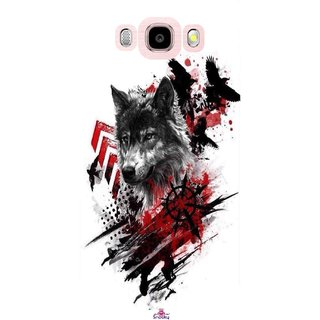 Snooky Printed 1121,wolf polka trash Mobile Back Cover of Samsung Galaxy J5 (2016) - Multi
