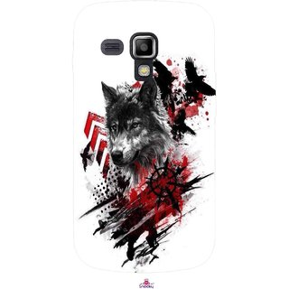 Snooky Printed 1121,wolf polka trash Mobile Back Cover of Samsung Galaxy S Duos S7562 - Multi