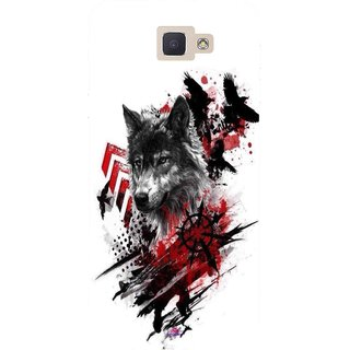 Snooky Printed 1121,wolf polka trash Mobile Back Cover of Samsung Galaxy J5 Prime - Multi