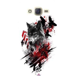 Snooky Printed 1121,wolf polka trash Mobile Back Cover of Samsung Galaxy J5 - Multi